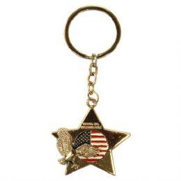 12 Units of Keychain USA Eagle Star - Key Chains