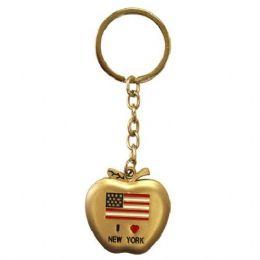 12 Units of Keychain I Love NY Apple - Key Chains