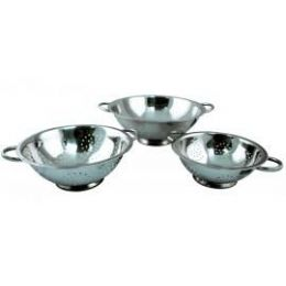 24 Units of 3 Quart Stainless Steel Colander - Strainers & Funnels