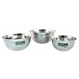 24 Units of 3 Quart Stainless Steel Mixing Bowl - Baking Supplies