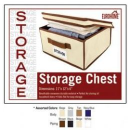 "24 Units of 11"" X 12"" X 6"" STORAGE CHEST -4 ASSORTED COLORS - Storage Holders and Organizers"