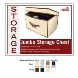 "24 Units of 16"" x 16"" x 10"" LARGE STORAGE CHEST -4 ASSORTED COLORS - Storage Holders and Organizers"