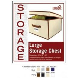 "16 Units of 12"" x 16"" x 10"" JUMBO STORAGE CHEST -4 ASSORTED COLORS - Storage Holders and Organizers"