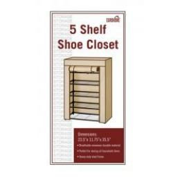 5 Units of 5 Shelf Shoe Closet Blue And White - Storage Holders and Organizers