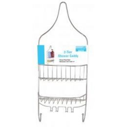 12 Units of 2 Tier Chrome Shower Caddy - Shower Accessories