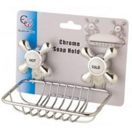 36 Units of Chrome Soap Holder w/Suction Cups - Shower Accessories