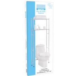 6 Units of Heavy Duty Over The Toilet Bath Organizer - Chrome - Bathroom Accessories