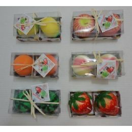 120 Units of 2pk Scented Fruit-Shaped Candles - Candles & Accessories
