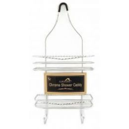 6 Units of TWISTED CHROME SHOWER CADDY - Bathroom Accessories
