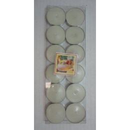 80 Units of 12pc Tea Lights-White Only - Candles & Accessories