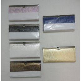 "48 Units of 7.5""x4"" Expandable Ladies Wallet-Shiny Lines - Wallets & Handbags"
