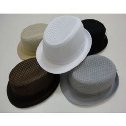 144 Units of Air Mesh Fedora - Fedoras, Driver Caps & Visor