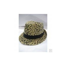 72 Units of Animal Print Fedora Hat - Fedoras, Driver Caps & Visor