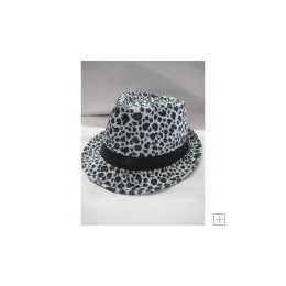 36 Units of Animal Print Fedora Hat - Fedoras, Driver Caps & Visor