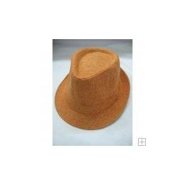 72 Units of Orange Fedora Hat - Fedoras, Driver Caps & Visor