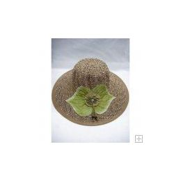 48 Units of Ladies Summer Hat Brown Color - Sun Hats