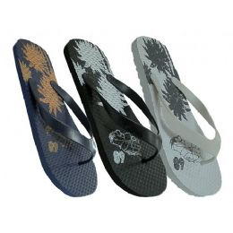 48 Units of Mens Floral Flip Flop - Men's Flip Flops and Sandals