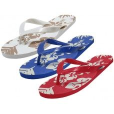 48 Units of Unisex Floral Printed Flip Flops - Men's Flip Flops and Sandals