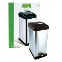 2 Units of 15 L Stainless Steel Waste Stepbin - Waste Basket