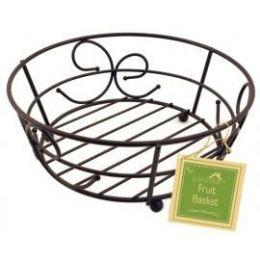 12 Units of Bronze Fruit Basket - Baskets