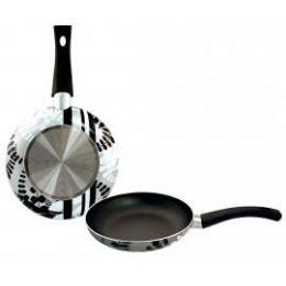 8 Units of 11inch Designer Fry Pan - Silver Leaf - Pots & Pans