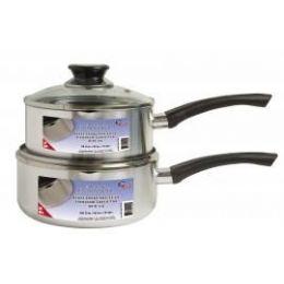8 Units of Aluminum Lip Sauce Pan With Lid - Pots & Pans