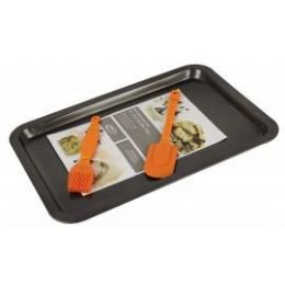 12 Units of Rectangular Pan With 2 Piece Silicone Tools - Baking Supplies