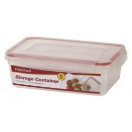 24 Units of 6 Piece Plastic Assorted Container With Click And Lock Lids - Food Storage Containers