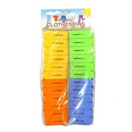 96 Units of Cloth Pin Plastic 24PK - Clothes Pins