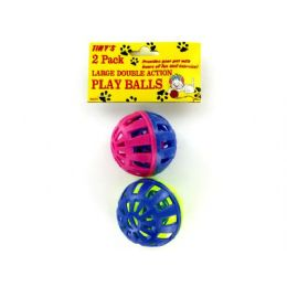 72 Units of 2 Pack cat play balls - Pet Toys
