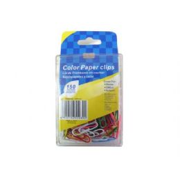72 Units of Colored Paper Clips, Pack Of 150 - Clips and Fasteners
