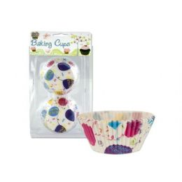 72 Units of Happy Birthday baking cups - Baking Supplies