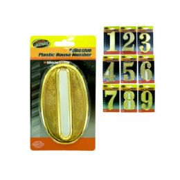 90 Units of Plastic House Numbers With Adhesive Back - Hardware Miscellaneous