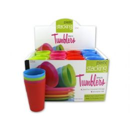 72 Units of Plastic stacking tumblers - Plastic Drinkware