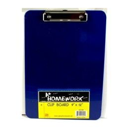 """96 Units of Clipboard- Plastic 9""""x 12.5"""" Asst Colors - Clipboards and Binders"""