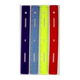 "288 Units of Flex Ruler 12"" Asst Colors- Boxed - Rulers"