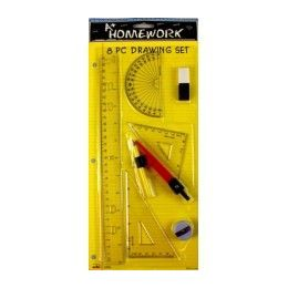 48 Units of Math/drawing SeT- 8 PcS- Asst. ToolS- Carded - Rulers