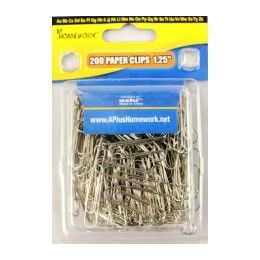 "48 Units of Paper Clips - Silver color - 200 count - 1.25"" - clamshel package. - Clips and Fasteners"