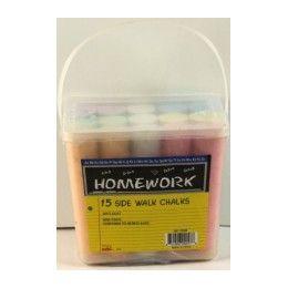 36 Units of Jumbo Sidewalk Chalk - 15 pk - w/Pail - Asst. Cls. - Chalk,Chalkboards,Crayons