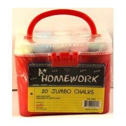96 Units of Jumbo Sidewalk Chalk - 20 pk - w/Pail - Asst.Cls. - Chalk,Chalkboards,Crayons
