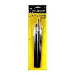 48 Units of Paint Brushes - 6 Ct. Asst.sizes - Carded - Paint, Brushes & Finger Paint
