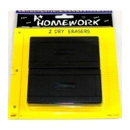 48 Units of Dry Erase Board Erasers - 2 pk - Erasers