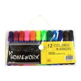 "48 Units of Water Color Markers - Mini 3"" - 12 pk - Asst. Colors - Markers and Highlighters"