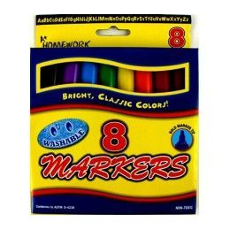 48 Units of Water Color Markers - 8 pk - Broad Tip - Asst. Colors - Markers and Highlighters