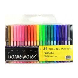 48 Units of Water Color Markers - 24 pk - Fine Point- Asst. Colors - Markers and Highlighters
