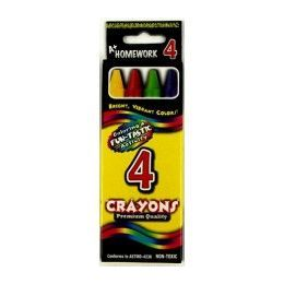 144 Units of Crayons - 4 pk - Boxed - Asst. Colors - Chalk,Chalkboards,Crayons