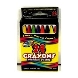 48 Units of Crayons - 24 pk - Boxed - Asst. Colors - Chalk,Chalkboards,Crayons