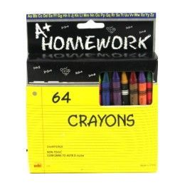 48 Units of Crayons - 64 pk - Boxed - Asst. Colors - Chalk,Chalkboards,Crayons