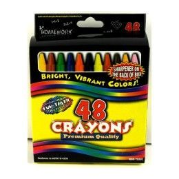 48 Units of Crayons - 48 Pk - Boxed - Asst. Colors - Chalk,Chalkboards,Crayons
