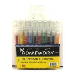 48 Units of Twistable Crayons - 10 Pack Asst.colors - Chalk,Chalkboards,Crayons